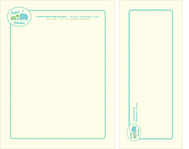 Babies to Boomers Stationery Design