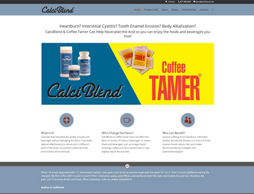 CalciBlend WooCommerce Website