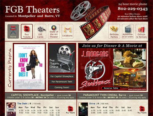 FGB Theaters Website