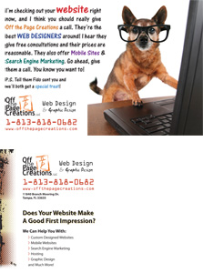 Off the Page Postcard Mailer Design
