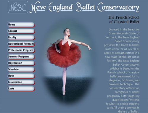 New England Ballet Website