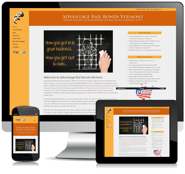 Responsive Advantage Bail Bonds Website