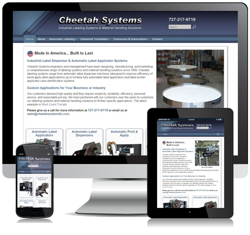 Cheetah Systems Responsive Website