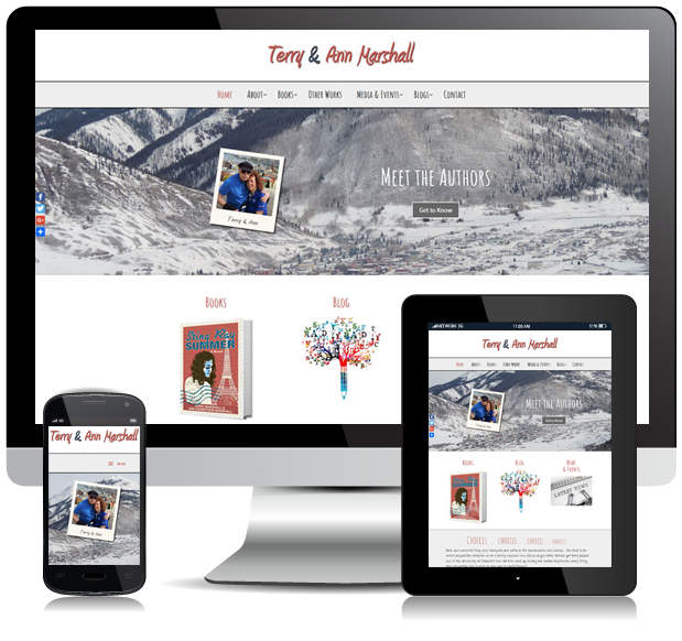 Responsive Authors Website