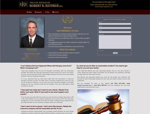 Robert Renfroe Legal Website