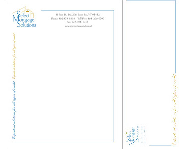 Select Mortgage Letterhead and Envelope Design