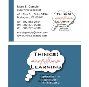 Thinks Learning Custom Business Cards