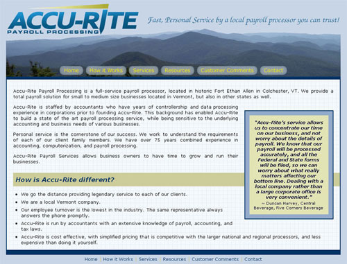 Accurite Payroll Website