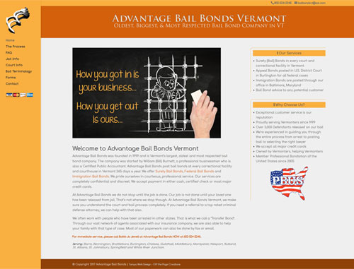 Advantage Bail Bonds Website