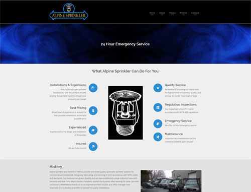 Alpine Sprinklery Systems Website