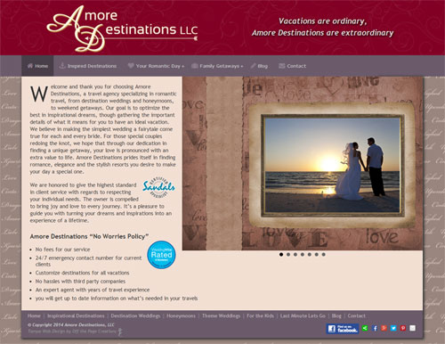 Amore Destinations Website