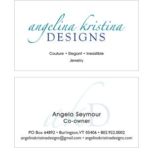 Angelina Kristina Clean Business Card Design