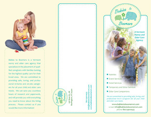 Babies to Boomers Trifold Brochure