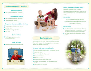 Babies to Boomers Trifold Brochure Design