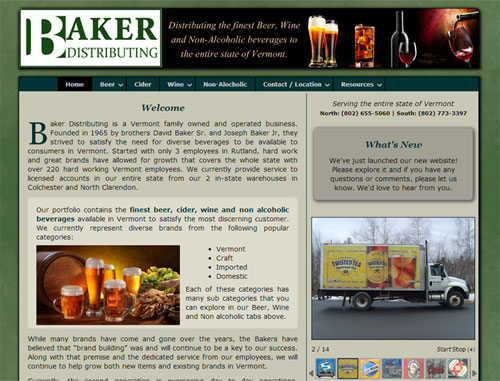 Baker Distributing Website