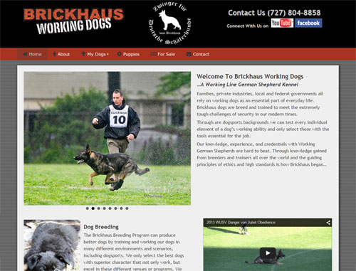 Brickhaus Working Dogs Website