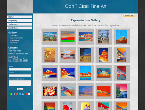 Carl T. Clark Fine Art Website