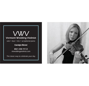 Carolyn Bever Musician Business Card Design