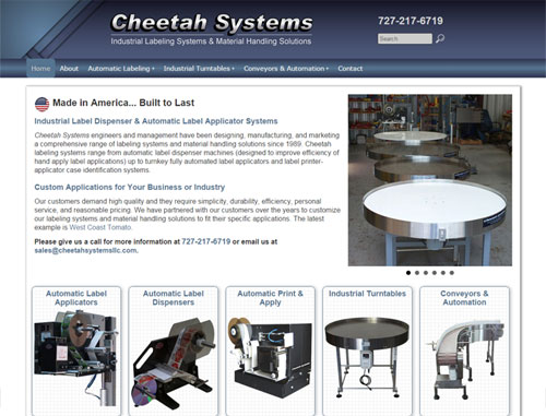 Cheetah Systems Website