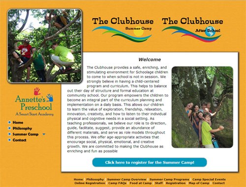Annettes Clubhouse Camp Website