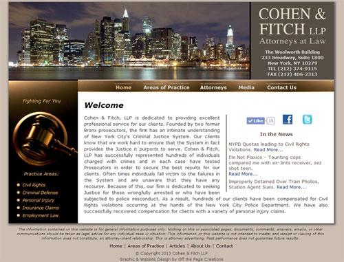 Cohen Fitch Legal Website