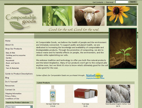 Compostable Goods Website