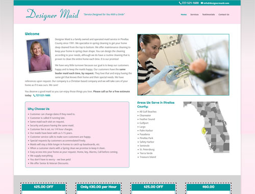 Designer Maid Website
