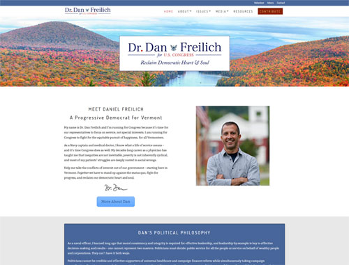 Dr. Dan Freilich for Congress website