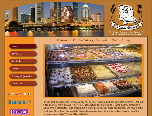 Florida Bakery Website