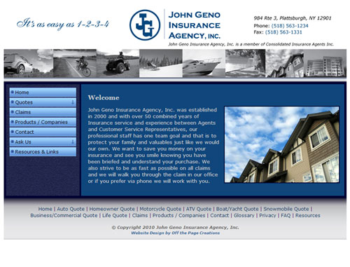 John Geno Insuring Website
