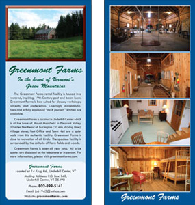 Greenmont Farms Rack Card