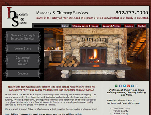 Hearth and Stone Website