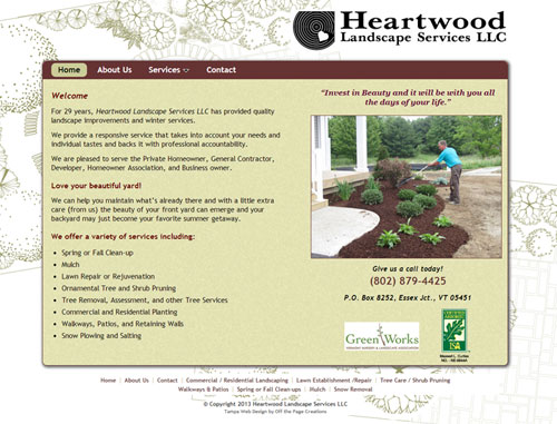 Heartwood Landscaping Website