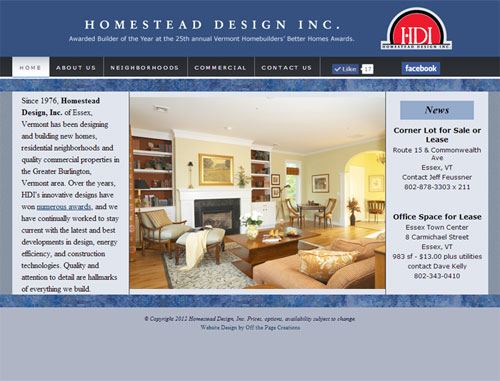 Homestead Design Website