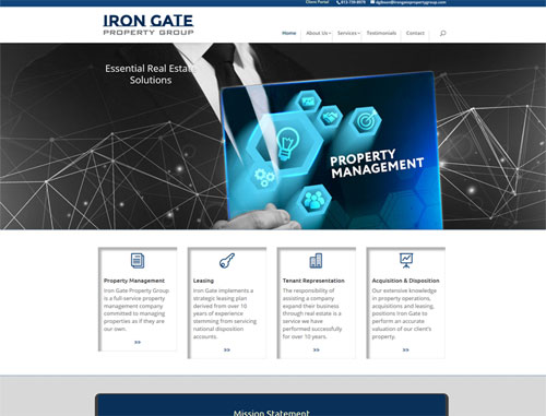 Iron Gate Property Management Website