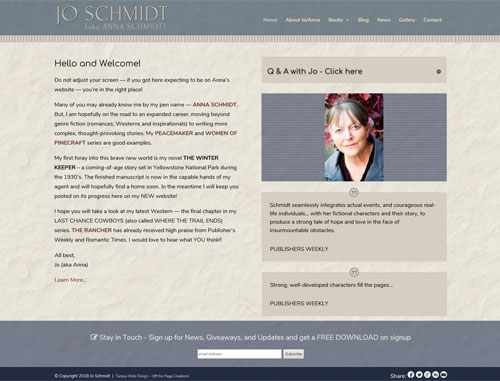 Jo Schmidt Author Website