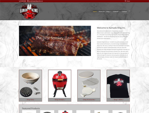 Kamado King BBG WooCommerce Website