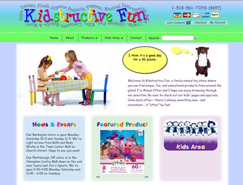 Kidstructive Fun Website