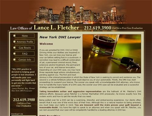 Lance Fletcher Legal Website