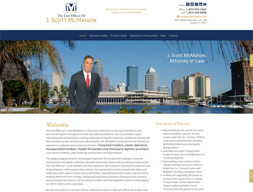 Law Offices of J Scott McMahon Website
