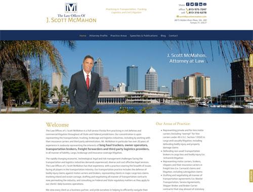 Law Offices of J Scott McMahon Website