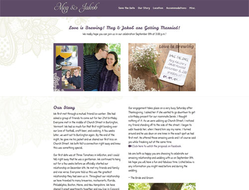 Engagement and Wedding Website