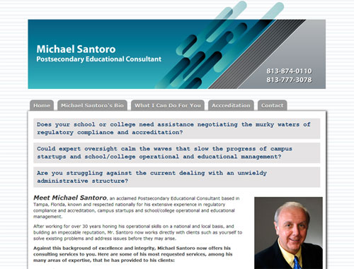 Mike Santoro Educational Consultant Website
