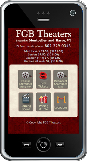 FGB Theaters Mobile Site