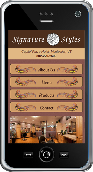 Signature Styles Salon Mobile Site