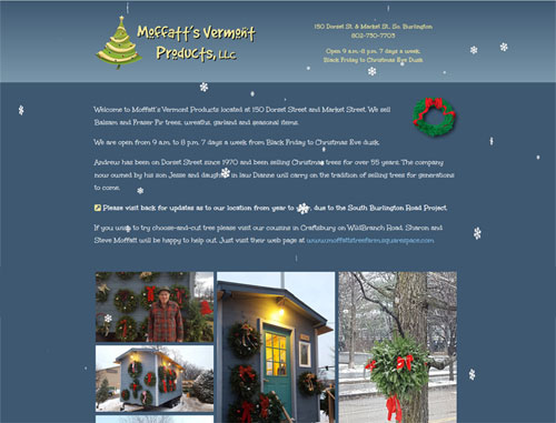 Christmas Tree Lot Website