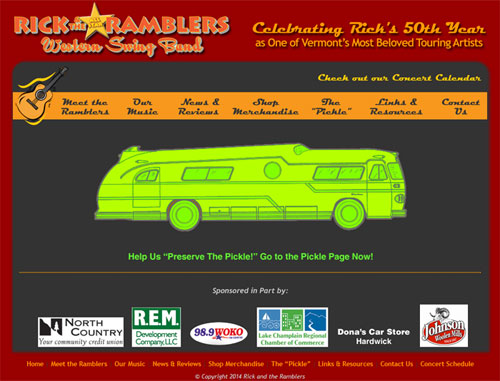 Rick and the Ramblers Website