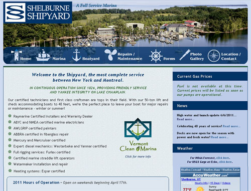 Shelburne Shipyard Website