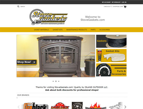 Stove Gaskets Ecommerce Website