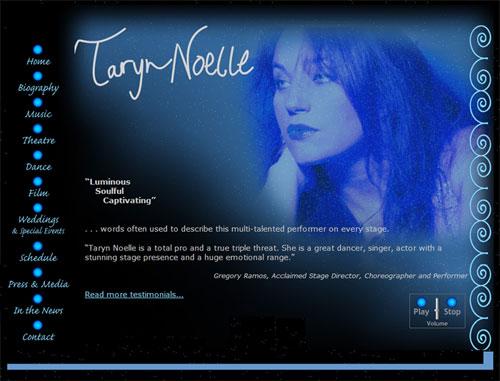 Taryn Noelle, Singer, Website